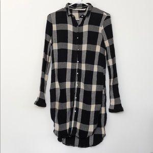 Zara long sleeve tunic style shirt